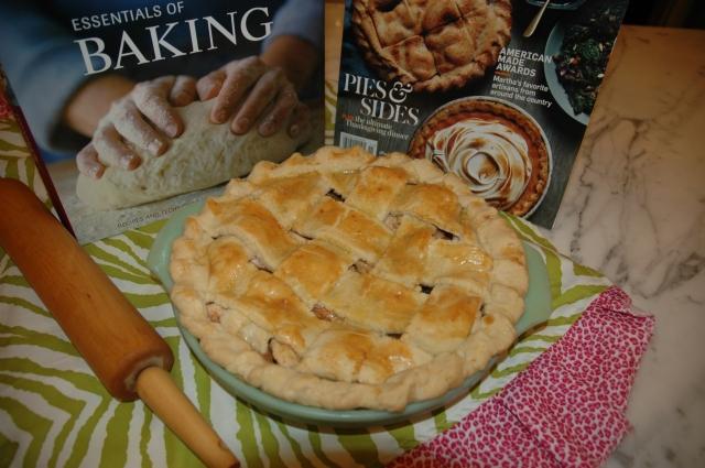 Basket Weave Crust on Apple Pie