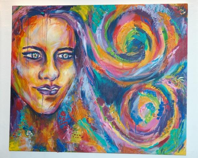 """""""New York Lights"""", acrylics, 30"""" x 30.5"""""""
