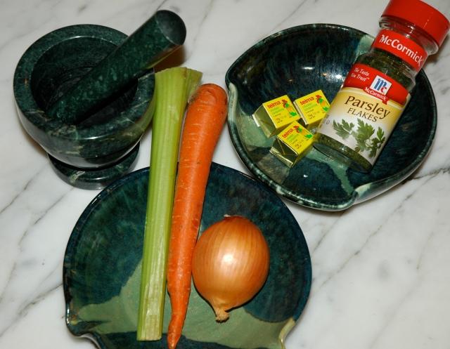 ingredients featured in my ceramic wheel-thrown bowls