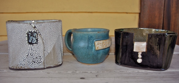 hand built vessels and wheel thrown mug