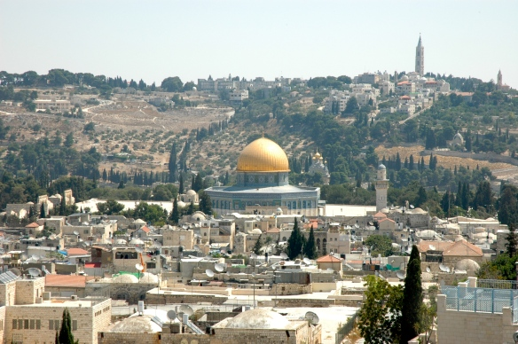 A view of the Temple Mount in Jerusalem, Israel.