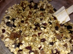 thoroughly combine butter mixture with seeds/ oats mixture