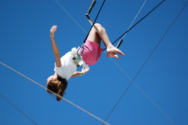 No fear on the trapeze.