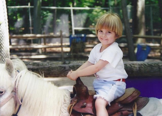 Pony ride at 3 3/4.