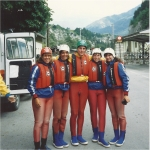 about to go white water rafting in Austria