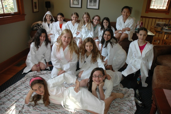 girls in robes