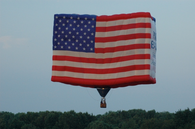 Hot air balloon at festival in Readington, NJ.
