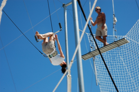 That's me on the trapeze.