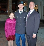 Proud Dad and sister flank our Army cadet.