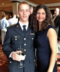 My son and me at an ROTC dinner.