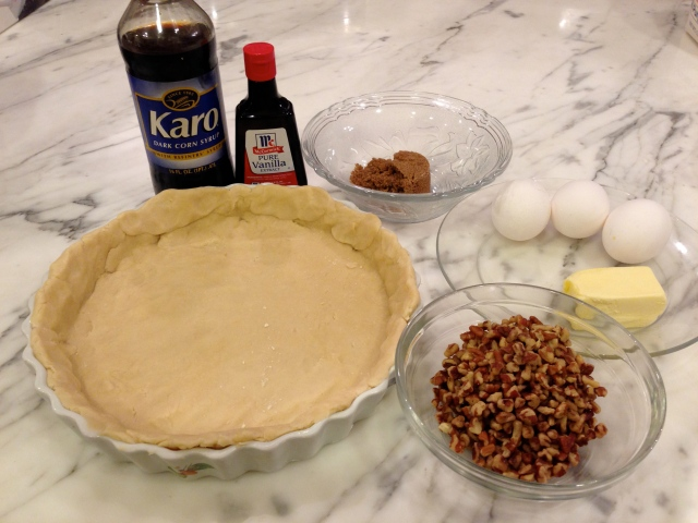 pie crust and filling ingredients