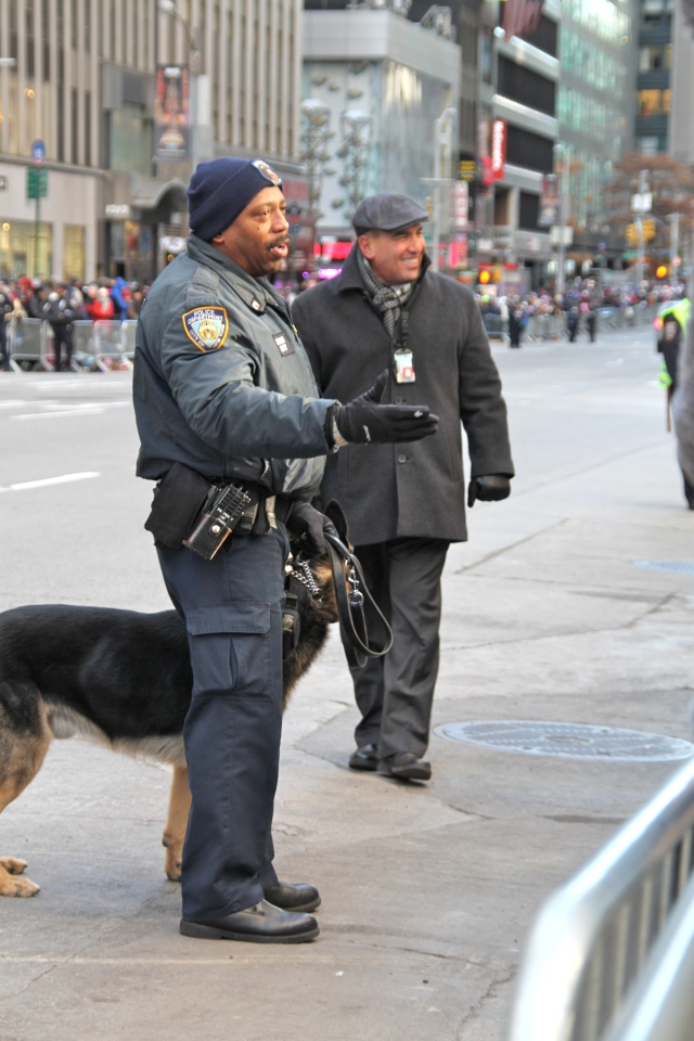 New York's Finest right before the parade stared.