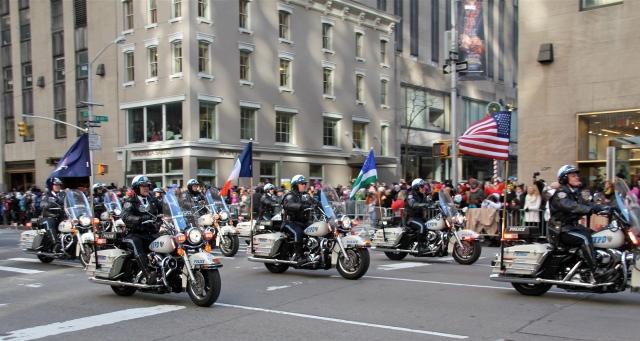 NYPD motorcycle bridgade