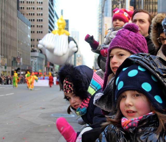 Tween Daughter in purple hat and friends.