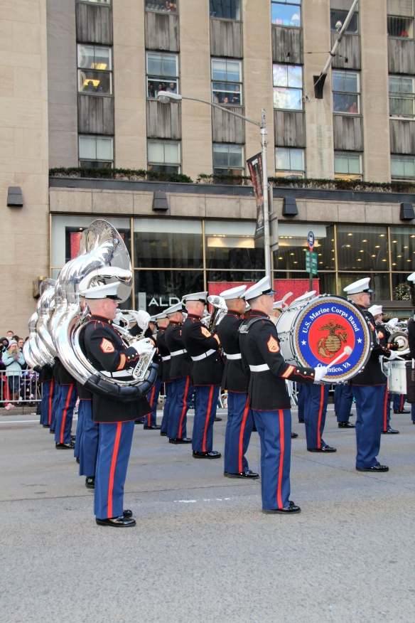 All of the musicians in the United States Marine Corps Quantico Band from Quantico, Virginia are combat-trained and active duty marines.