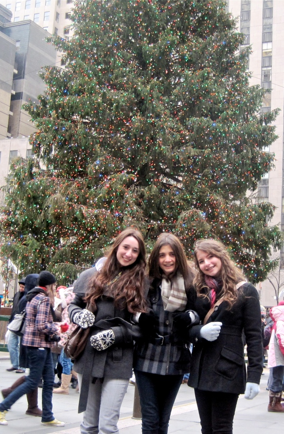 Teen Daughter (on right) and friends at Rockefeller Center, December 2007