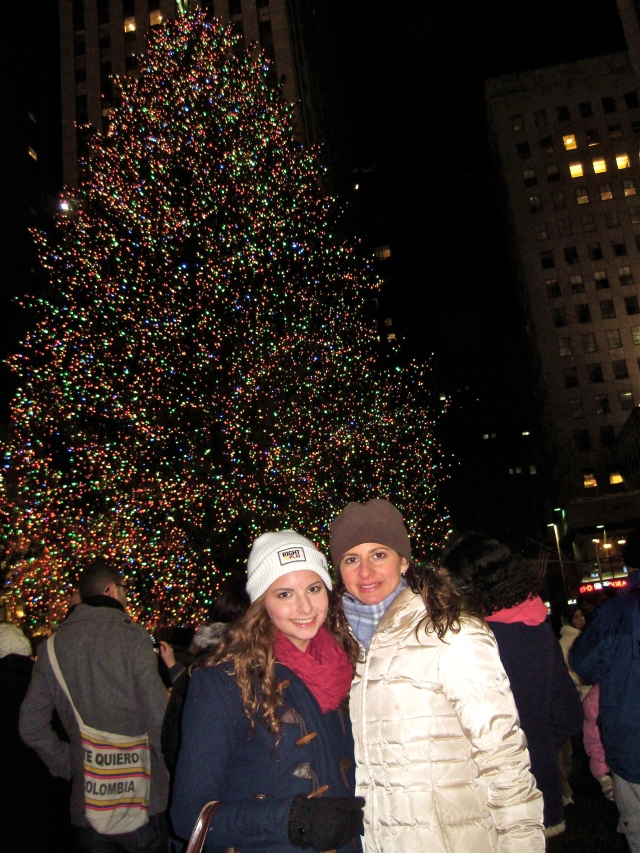 Teen Daughter and me, Rockefeller Center, NY, 2010