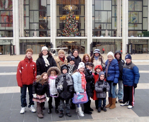 Cousins reunion, Lincoln Center, NY, 2009