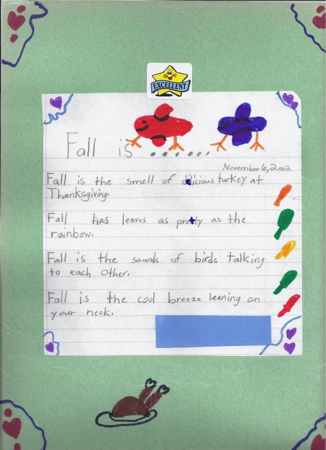 Third Grade Poem