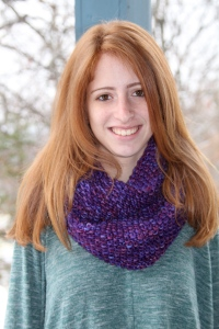 Infinity Scarf knit with chunky merino wool.