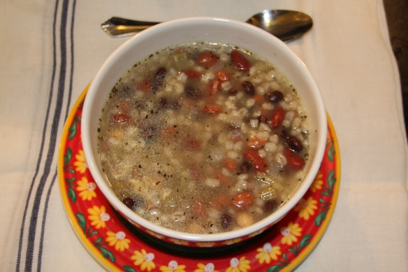 Bean Soup (with barley added.)