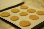Bake sugar cookies at 350 degrees F for 8-10 minutes.