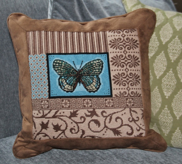 Petit Point pillow that may have caused me to need reading glasses!