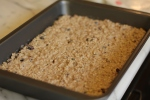 Pour oatmeal mixture into prepared baking dish.