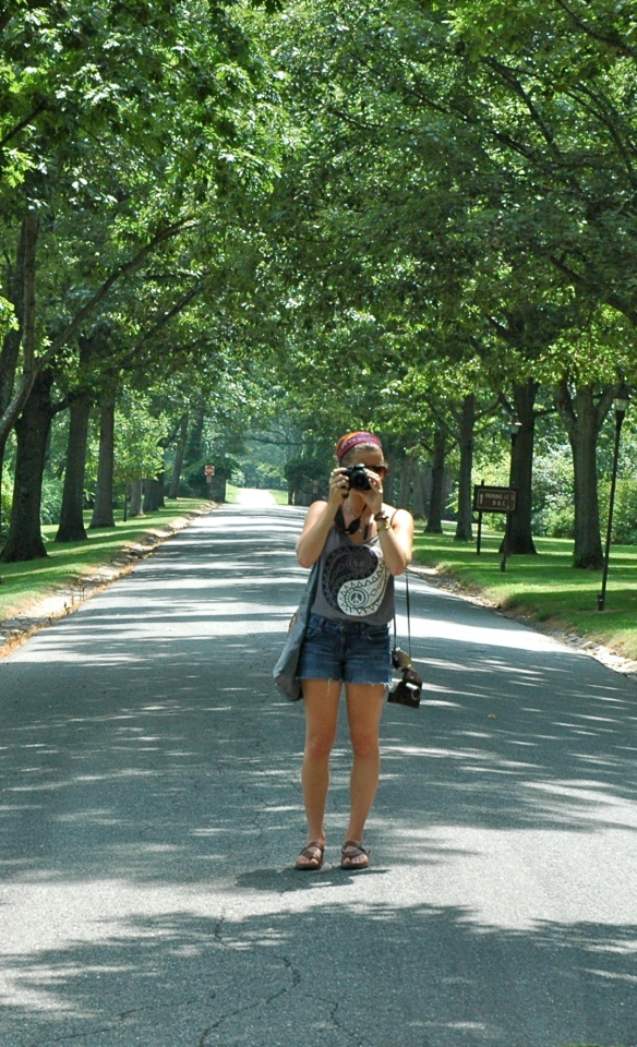 Teen Daughter and fellow photographer.  We were snap happy in the gorgeous gardens.