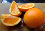 2. Peel, cut into chunks and seed oranges.