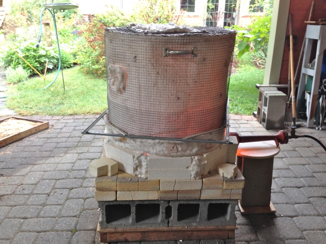 Outdoor kiln.