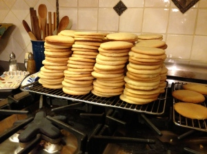 I know it's nuts, but I baked 240 cookies.