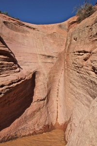 We rappelled down this canyon