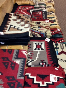 Not odd.  Pretty rugs and wraps.