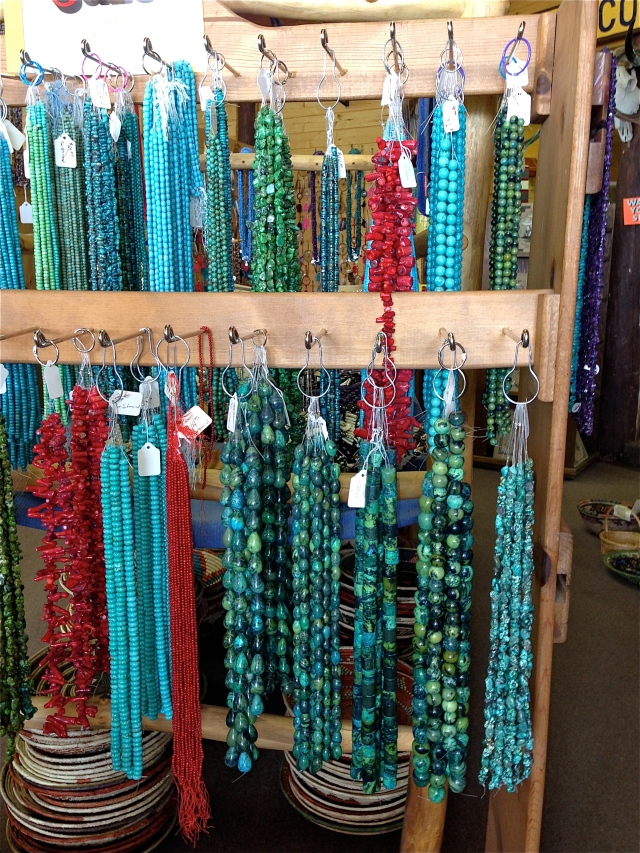 Beautiful strands of turquoise.