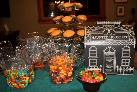 Cupcakes, candy and a Haunted House.