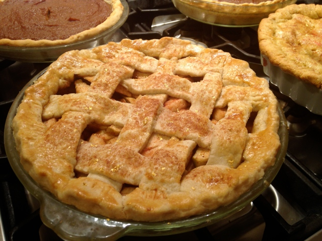 Another Apple Pie with Basket Weave Crust.