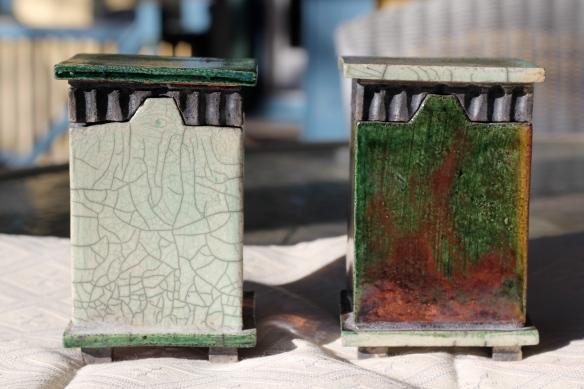 Handbuilt Raku Lantern Boxes