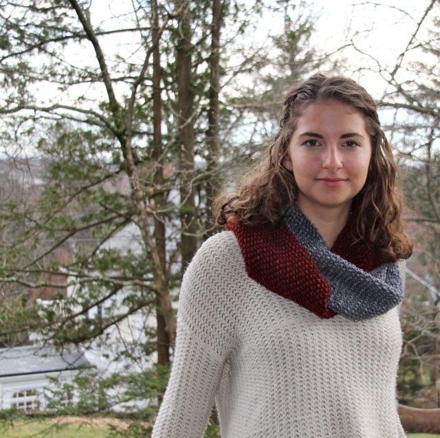 Interlocking Infinity Scarf.  Stay warm in Brooklyn.
