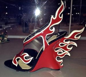 Prada's Flame wedge sandals, 2012