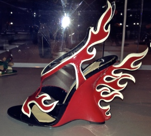Prada's Flame wedge sandals, 2012