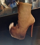 "Christian Louboutin (French) 2011-2012, ""Puck"", goatskin, leather"