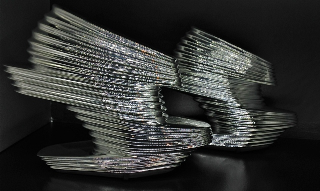 "Zaha Hadid X United (Iraqi) ""Nova"", 2013, chromed vinyl rubber, kid napa leather, fiberglass"