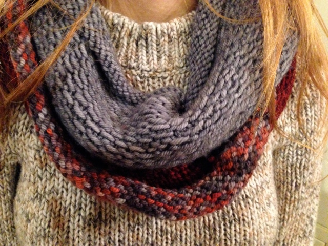 Another way to wear this scarf.