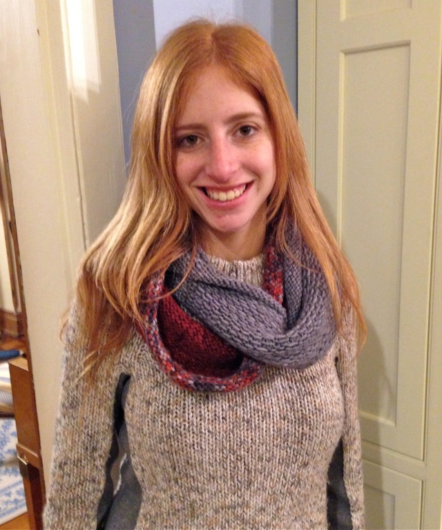Interlocking Infinity Scarf.  Stay warm in Florence.