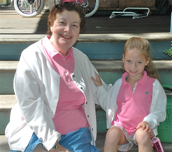 Grandma and granddaughter (my Plus One), matching.