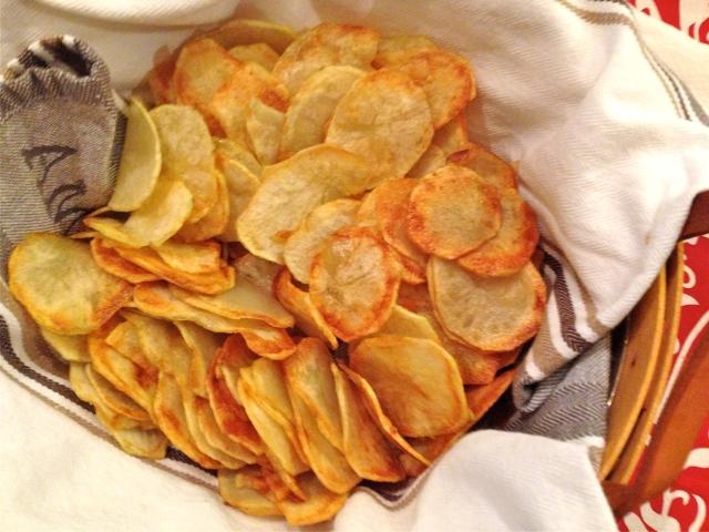 Homemade Potato Chips.