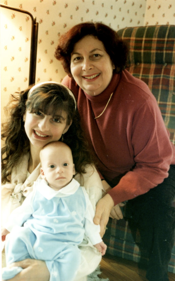 Me, my mom and my son.