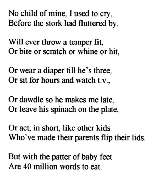No Child of Mine Poem