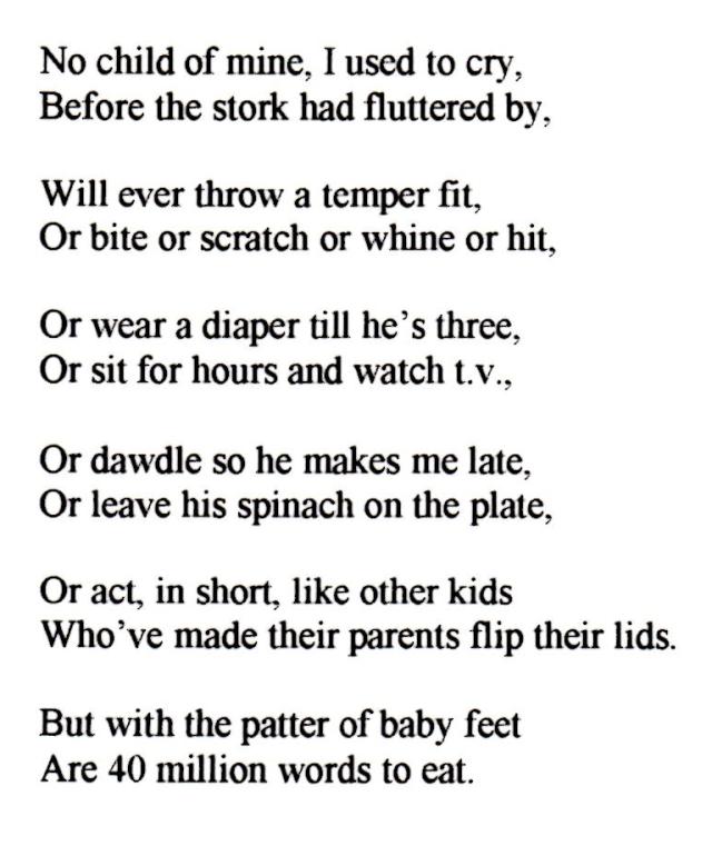 No Child of Mine Poem